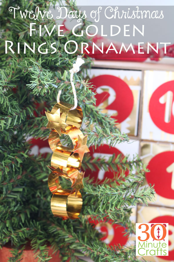 Five Golden Rings Ornament for the 12 Days of Christmas