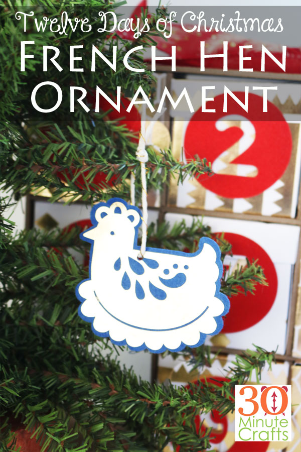Twelve Days of Christmas Three French Hens Ornament
