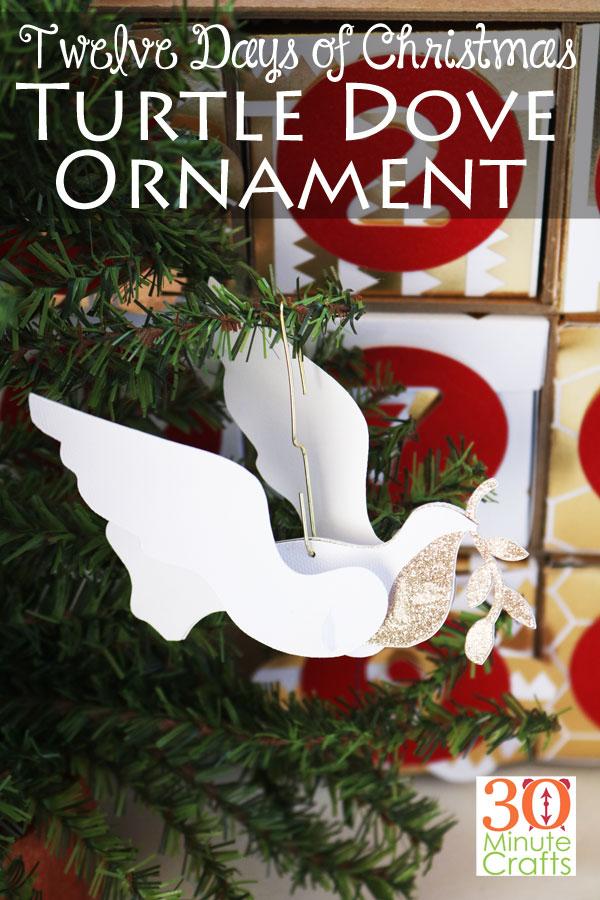Twelve Days of Christmas Turtle Dove Ornament