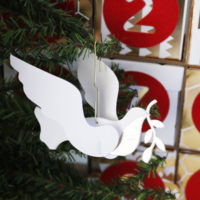 Twelve Days of Christmas Turtle Dove Ornament
