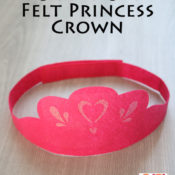 Cricut-Cut Felt Princess Crown