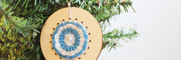 finished woven ornament