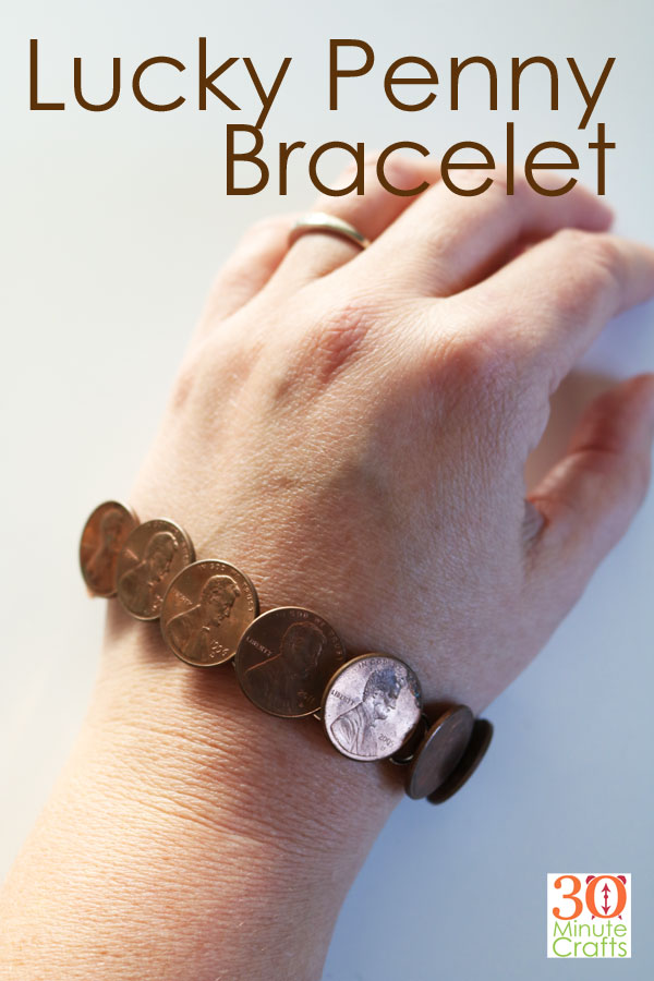 Lucky Penny Bracelet. Super fun to display special coins, or to celebrate Lucky Penny Day (May 23rd).
