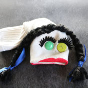 sock puppet made from a leftover sock!